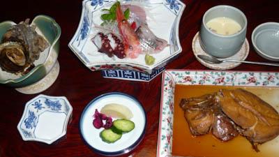 鋸山金谷温泉(浜金谷)金泉館での夕食