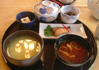 茶粥定食(奈良ホテル ラウンジ三笠にて)