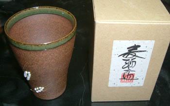 長谷製陶のビアマグ