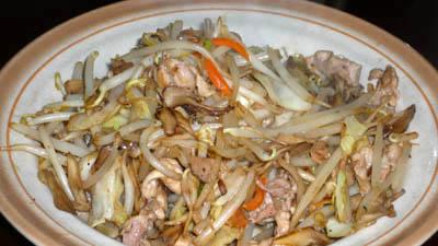 マキシマムを使った肉野菜炒め