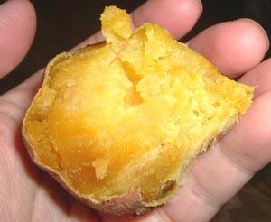 安納芋(あんのういも)の焼いも。