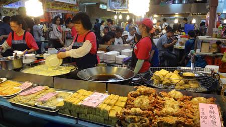 台湾 士林夜市 夜市地下美食街