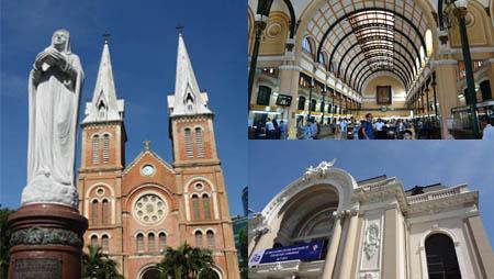 ホーチミン 聖母マリア教会 中央郵便局 市民劇場