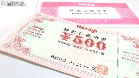 株主優待 ハニーズ