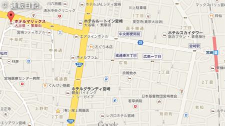 宮崎 ホテルマリックス 地図