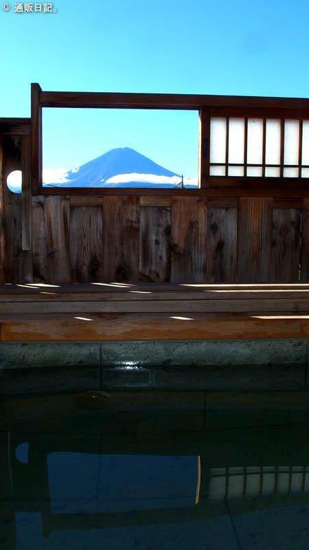 河口湖 レイクランドホテル みづのさと 客室から眺める富士山