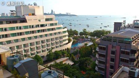 パタヤ マークランド ブティック ホテルからの眺め
