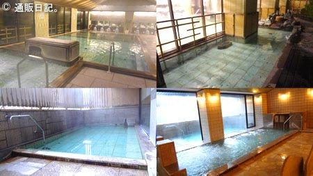 水上ホテル聚楽 風呂