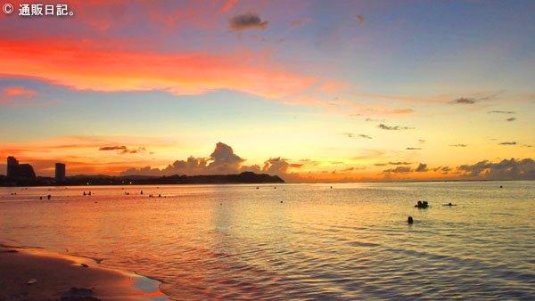 タモンビーチのサンセット