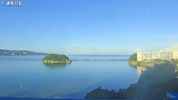 グアム オンワードビーチリゾート 客室の窓からの眺め
