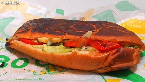 サブウェイのサンドイッチをホットサンドメーカーで焼いてみた