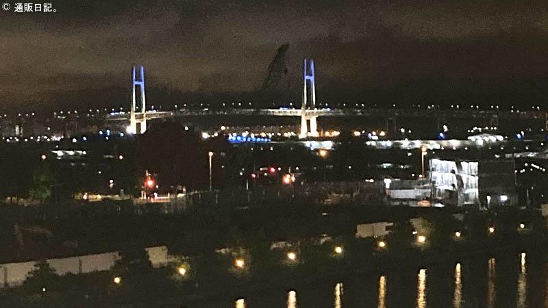 アパホテル&リゾート 横浜ベイタワーから眺めるベイブリッジ