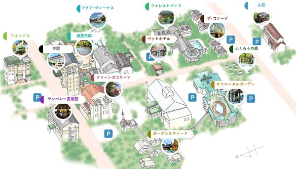 ホテルサンバレー那須 施設案内マップ