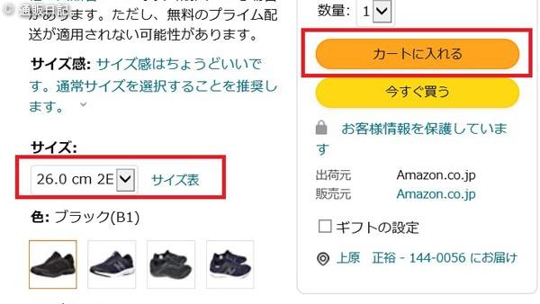AMAZONで靴を買うときIE11は要注意!