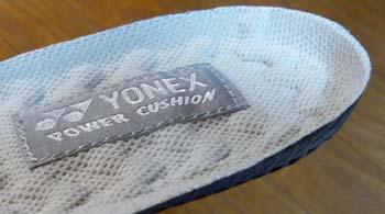 靴の中敷きYONEX(ヨネックス)パワークッションインソール。