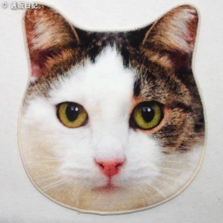 これは可愛い CAT リアルモチーフタオル(ネコ)今治産ハンドタオル。