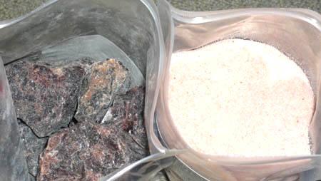 味と効能の決め手はヒマラヤ岩塩(レッド岩塩 ブラック岩塩)