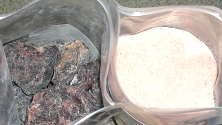 ヒマラヤ岩塩レッドとブラック