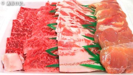 [下町のお肉屋さん くり助] 牛カルビ・牛モモ・豚バラ・鶏モモ肉 定番焼肉セット 750g(3~4人前)冷蔵配送でバーベキューにも最適!