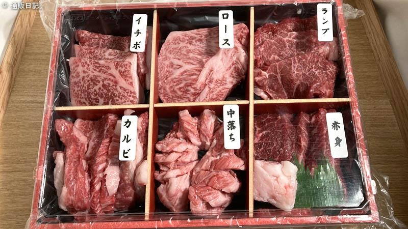 [焼肉] 分厚いのに柔らかい!肉のヒライ 神戸牛 6点食べ比べセット う~ん神戸BEEF♪